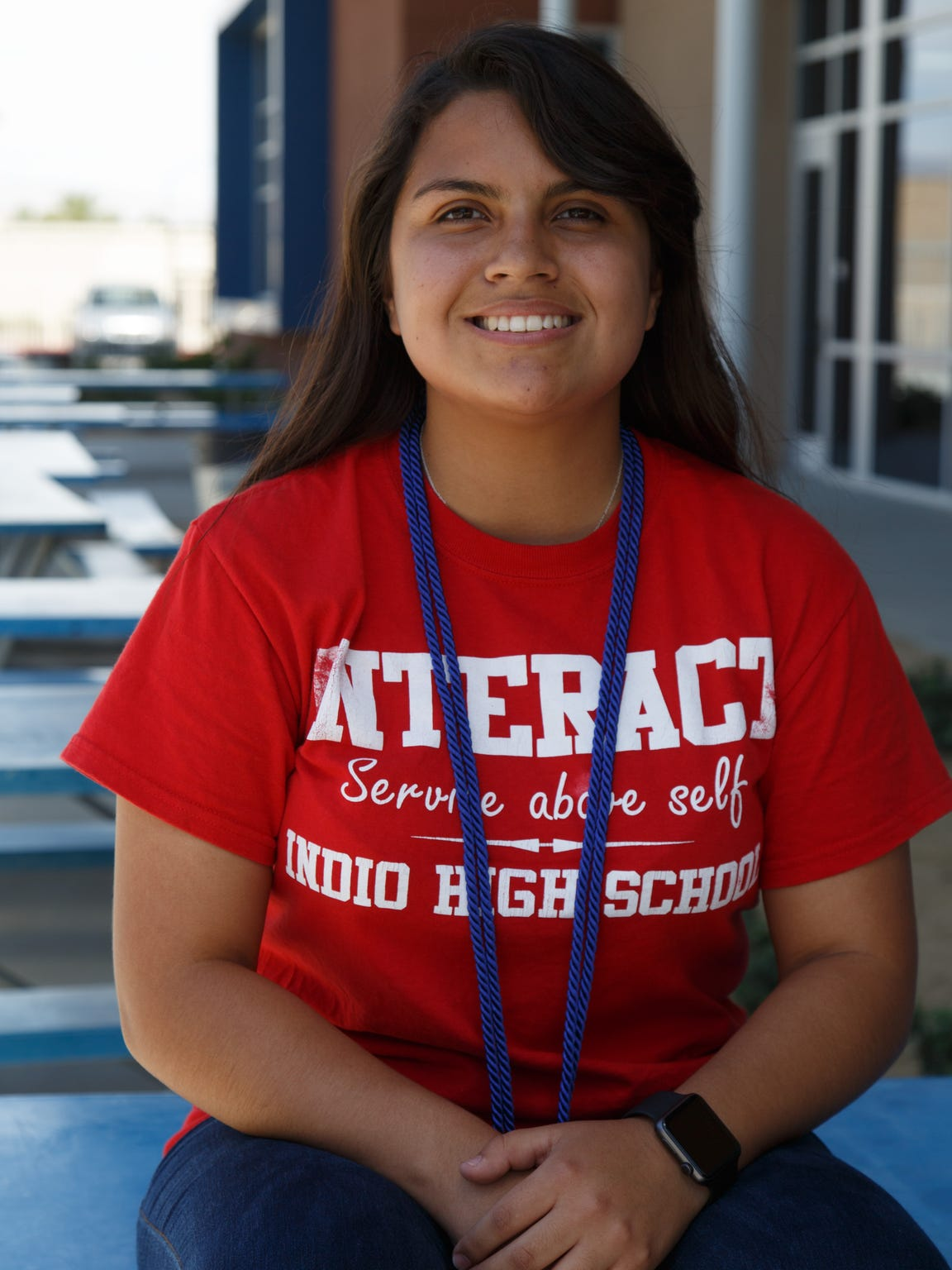 Eva Murillo is photographed at Indio High School, Tuesday,