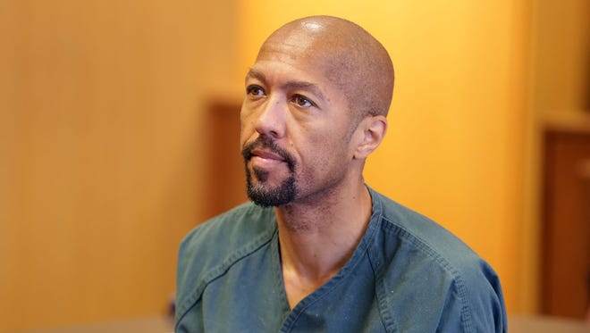 Charles Pugh appears before Judge Deborah Langston at Frank Murphy Hall of Justice on Tuesday, July 19, 2016, where she denied a bond reduction and set his preliminary examination for Aug. 5, 2016.