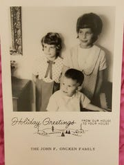 Laurel (left) and Lynne and John C. Oncken on a Christmas