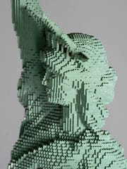 A Lego version of the Statue of Liberty.