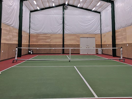 George Raft built this indoor pickleball court at his home in the Burley area of South Kitsap.