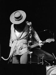 "Stevie Ray Vaughan performs in Austin May 9, 1982. This image and others are part of an exhibit at the Old Jair Art Center in Albany entitled ""Showtime: Photographs of Music Legends by Watt Casey, Jr."" The collection of 45 pictures will be on display until August 26."