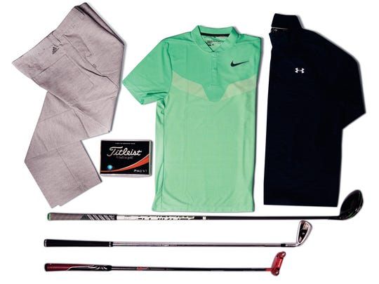 Various golf apparel and equipment