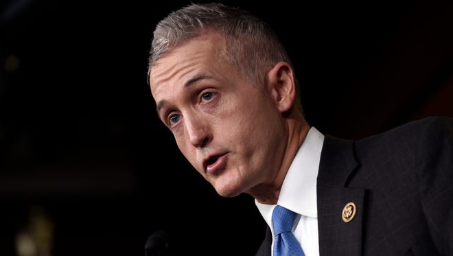 Rep. Trey Gowdy, R-S.C. speaks at a news conference on Capitol Hill on Tuesday.