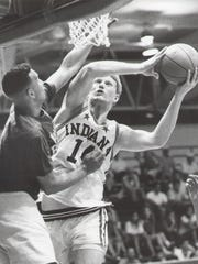 Indiana All-Star Chris Lawson shoots over ex-Notre