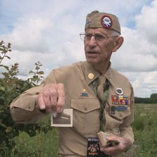 Clinton Riddle recognizes the scenes of battle, 70 years after the D-Day invasion