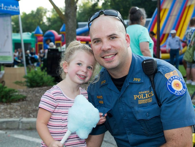 2017 Paramus National Night Out Event outside the Paramus