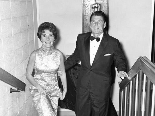Govenor Ronald Reagan and his wife Nancy Reagan.