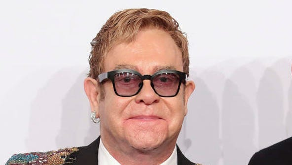 FILE - This Nov. 2, 2016 file photo shows Elton John