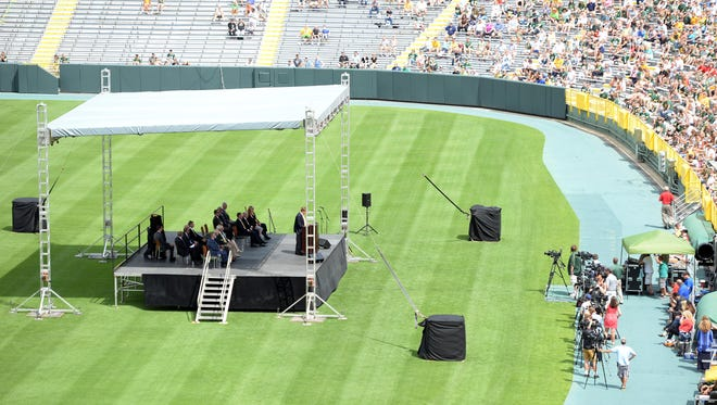 The grass appeared to show considerable improvement by July 28 for the Packers shareholders meeting