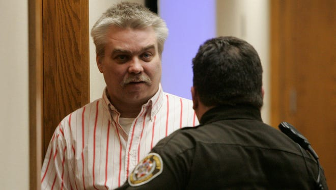 Steven Avery leaves the courtroom Feb. 22, 2007, during a break in his murder trial at the Calumet County Courthouse in Chilton.