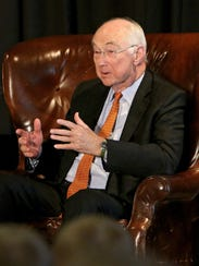 Former Sen. Phil Gramm speaks at the Americanism Luncheon