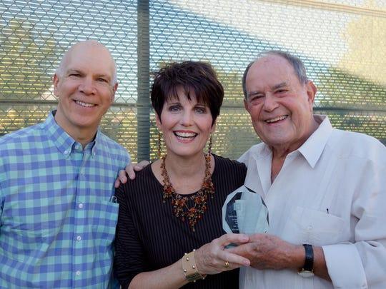 Tony Award winning David Zipple, Honorees Lucie Arnaz and husband Laurence Luckinbill