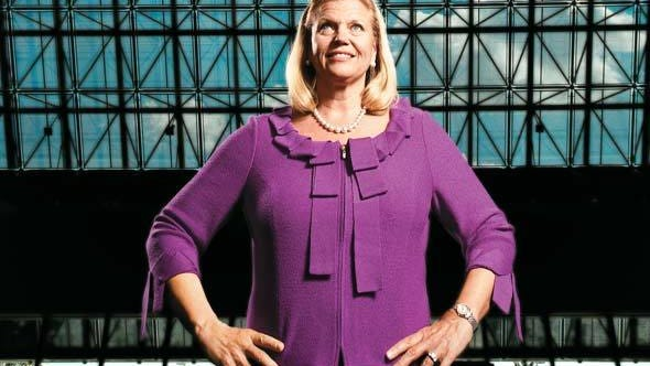 IBM's CEO, Ginni Rometty, likes what she sees in the company's future.