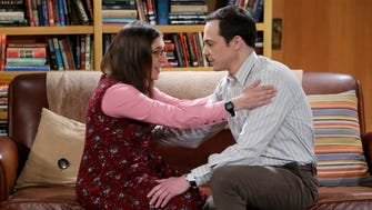 Relationship pressure from Amy (Mayim Bialik) causes Sheldon (Jim Parsons) to seek a diversion in the season finale of 'The Big Bang Theory' on CBS.