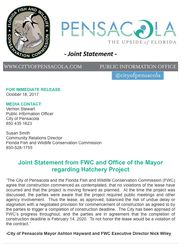 Joint statement from Mayor Ashton Hayward and state