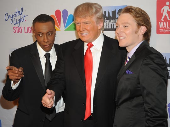 "Arsenio Hall, Donald Trump and Clay Aiken attend ""The"