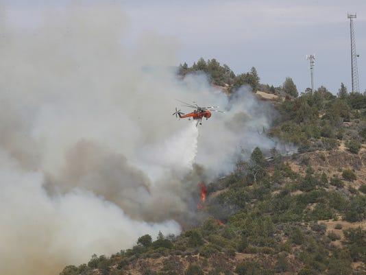Klamathon Fire near the California-Oregon border
