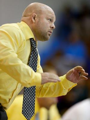 University of Great Falls head wrestling coach Caleb Schaeffer