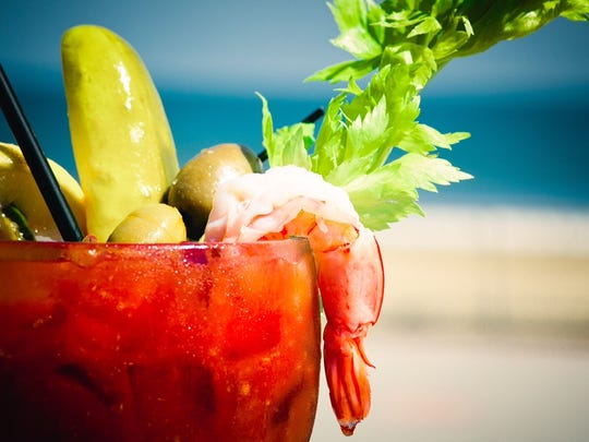 A Bloody Mary from Rooney's Oceanfront Restaurant.