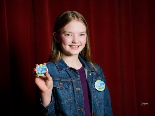 Southside School sixth-grade student Charlotte Hansen