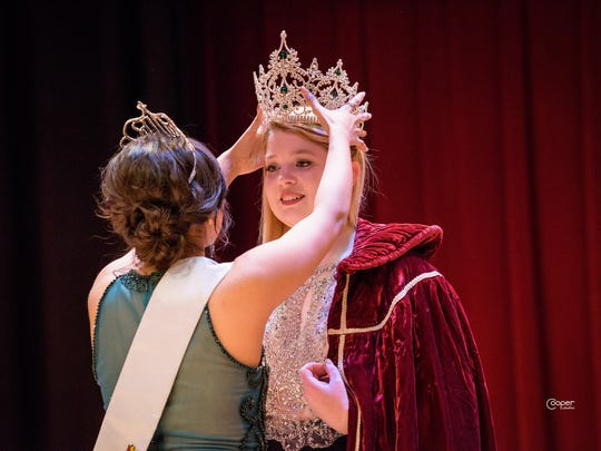 Shelton High School senior Jessica Schreiber is crowned as Queen of the Forest, March 10, in Shelton. Schreiber will represent Mason County at festivals and parades throughout the summer.