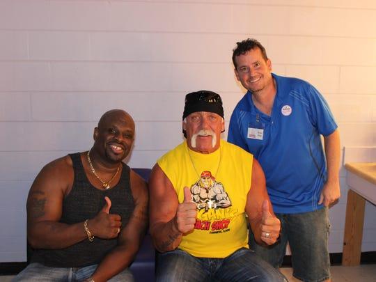 D-Von Dudley, left, Hulk Hogan and Mike Nunez attended Body Slammin Breast Cancer in 2013. D-Von returns for this year's event.