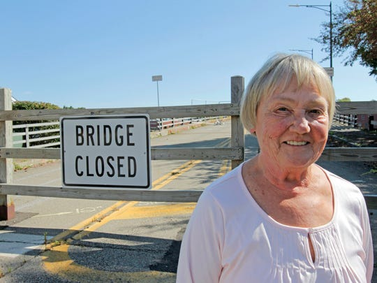 Marsha Brown of Pine City said she's trying to build community support for rehabilitating the Lake Street bridge in Elmira for pedestrians and covering the bridge with flowers.
