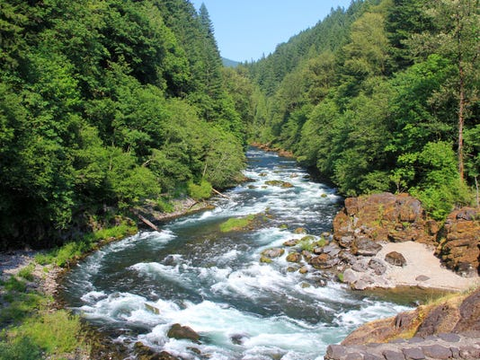 Views of the North Santiam River