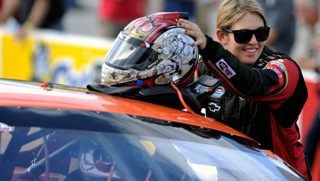 Johanna Long gets ready for the start Sunday during the 45th Annual Snowball Derby at Five Flags Speedway.