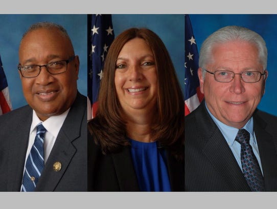 Democrat freeholder candidates (from left) Jack Surrency,