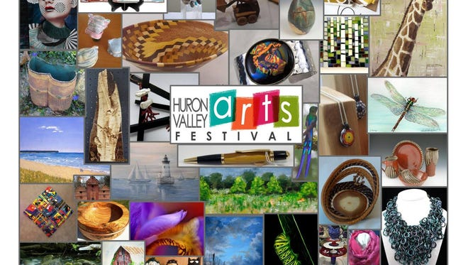 This collage features work by past and present artists from the Huron Valley Arts Festival.