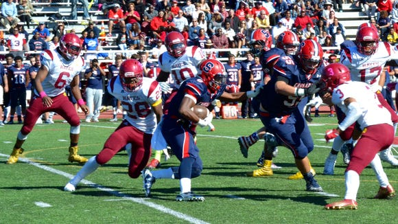 Stepinac running back Malik Crawford ran for 120 yards in a 43-20 win over Cardinal Hayes on Saturday.