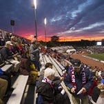 Carroll Stadium at IUPUI, home of the Indy Eleven soccer team, in October 2014.