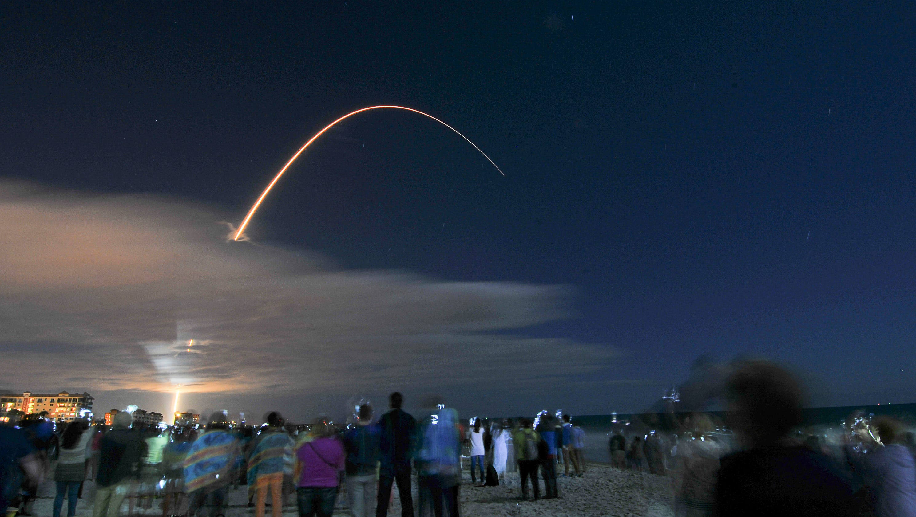 SpaceX Falcon 9 rocket launches from California, lands in