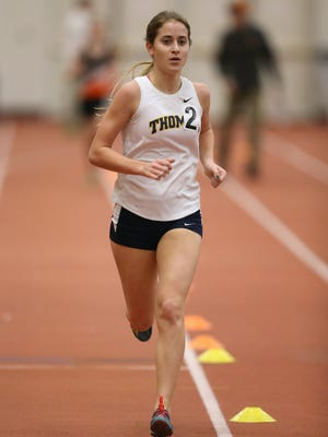 Amanda Vestri, of Webster Thomas won the Class A 3000 meter run.