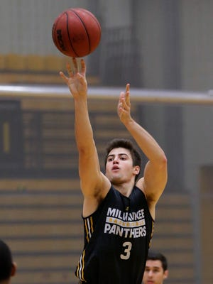 UWM's Brock Stull had nine points and nine rebounds for the Panthers in a loss to South Dakota State on Sunday afternoon.