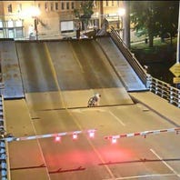 Video of Menasha bicyclist falling between gap on lift bridge gets nationwide attention
