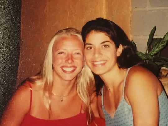 Marianne and me, dressed up for a night on the town during our camp counselor days.
