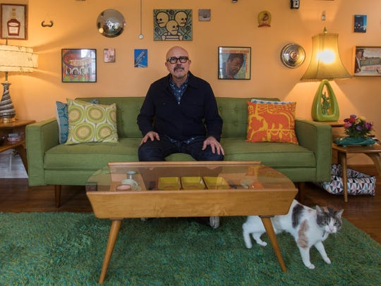 Michael Zadoorian lives in a vintage-décor Ferndale