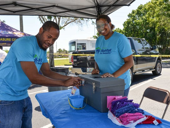 St. Lucie County Habitat for Humanity volunteers Chantay