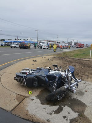 A motorcycle accident sent one man to the hospital in critical condition on Saturday afternoon.