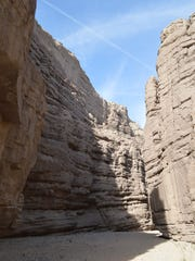 The Painted Canyons, located within the Mecca Hills