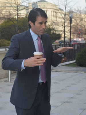 Rep. Garret Graves, R-La., met recently with constituents outside his office building. Graves, who serves on the Transportation and Infrastructure Committee, said he will push for more infrastructure projects for the state and region.