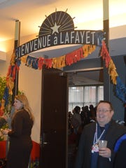 The city of Lafayette host a hospitality suite at the