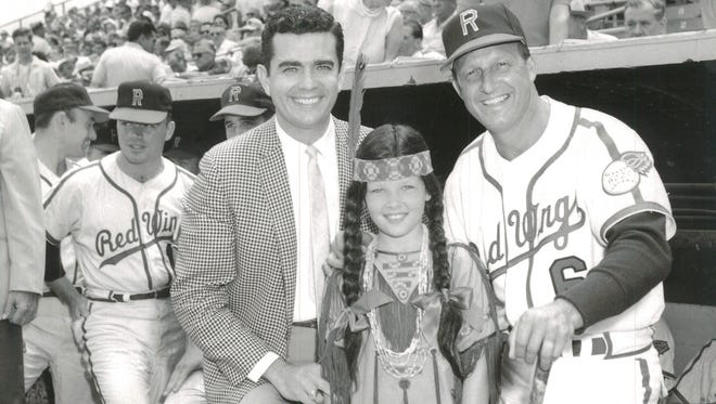 Dan Morgan, Princess Red Wing and Stan Musial, June 1964.