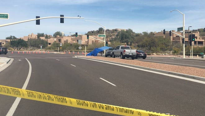 A collision left three people dead and one person critically injured after an SUV hopped the curb and hit pedestrians in Fountain Hills on March 13, 2018.