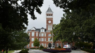 MYKAL McELDOWNEY/Staff Tillman Hall is a landmark at Clemson University. Some students and faculty members want the name changed. Tillman Hall, Clemson University on Friday, October 10, 2014.
