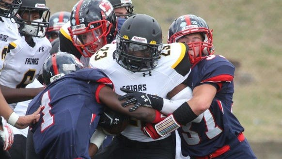 Stepinac and St. Anthony's, pictured during a game in 2015, will meet at 6 p.m. Saturday in Uniondale for the CHSFL 'AAA' championship.
