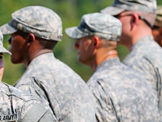 AP APTOPIX ARMY RANGERS WOMEN A USA GA